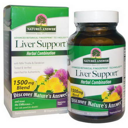 Nature's Answer, Liver Support, 90 Veggie Caps