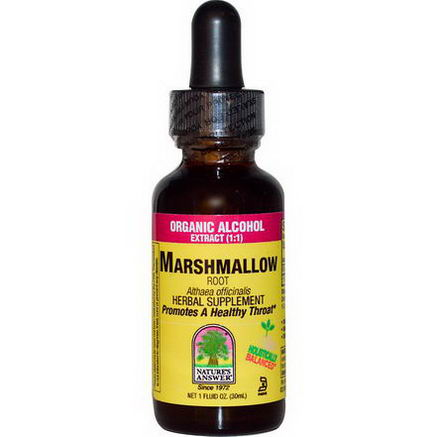 Nature's Answer, Marshmallow, Root, Organic Alcohol Extract (1:1), 1 fl oz (30 ml)