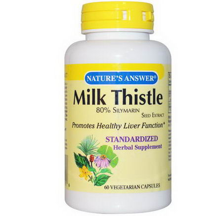 Nature's Answer, Milk Thistle, 60 Veggie Caps