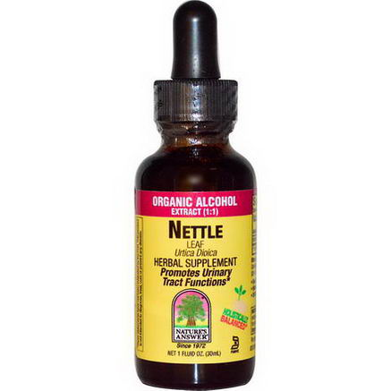 Nature's Answer, Nettle Leaf, Organic Alcohol, 1 fl oz (30 ml)