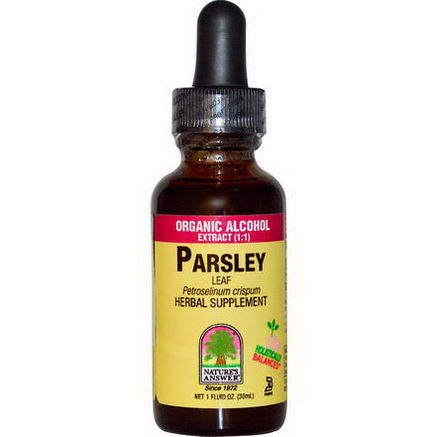 Nature's Answer, Parsley, Leaf, Organic Alcohol Extract (1:1), 1 fl oz (30 ml)