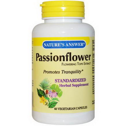 Nature's Answer, Passionflower, Flowering Tops Extract, 60 Veggie Caps