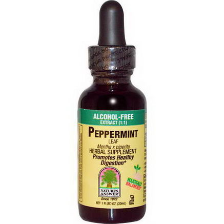 Nature's Answer, Peppermint Leaf, Alcohol-Free, 1 fl oz (30 ml)