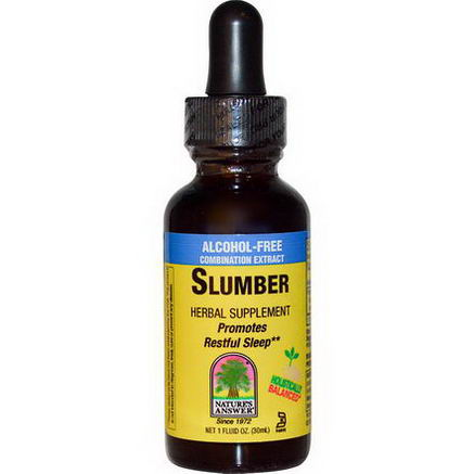 Nature's Answer, Slumber, Alcohol-Free Extract, 1 fl oz (30 ml)