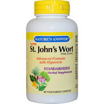 Nature's Answer, Super St. John's Wort, Herb Extract, 60 Veggie Caps