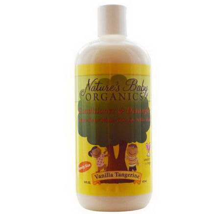 Nature's Baby Organics, Conditioner & Detangler, Vanilla Tangerine, 16 fl oz (473 ml)