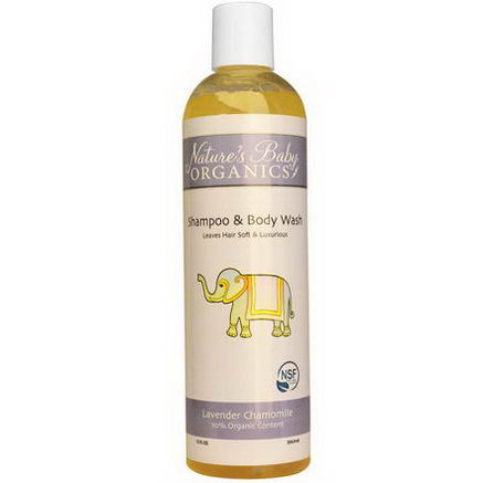 Nature's Baby Organics, Shampoo & Body Wash, Lavender Chamomile, 12 fl oz (354.9 ml)