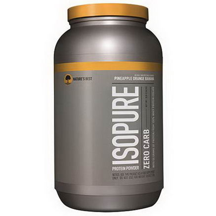 Nature's Best, Iso Pure, IsoPure Protein Powder, Zero Carb, Pineapple Orange Banana, 3 lbs (1361g)