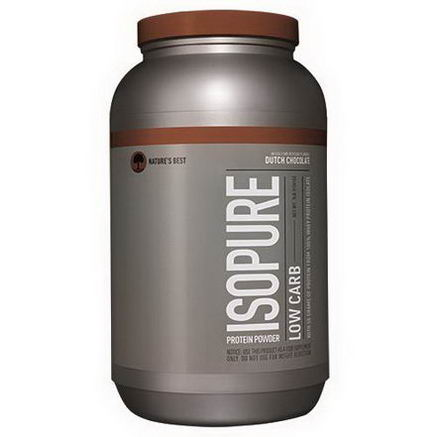 Nature's Best, Iso Pure, Isopure Low Carb Protein Powder, Dutch Chocolate, 3 lb. (1361g)