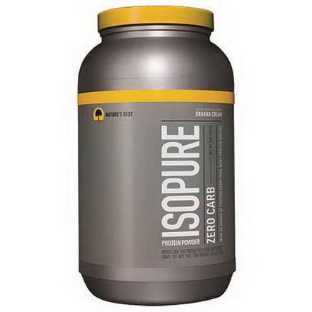 Nature's Best, Iso Pure, Isopure Protein Powder, Zero Carb, Banana Cream, 3 lbs (1361g)