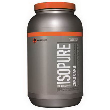 Nature's Best, Iso Pure, Isopure Protein Powder, Zero Carb, Mango Peach, 3 lbs (1361g)
