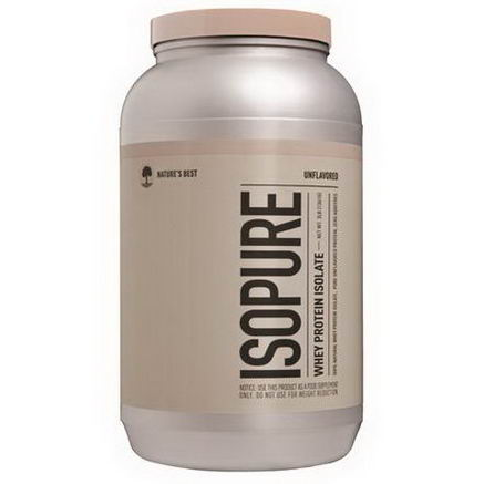 Nature's Best, Iso Pure, Isopure, Whey Protein Isolate, Unflavored, 3 lb, (1361g)