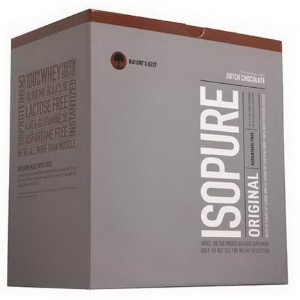 Nature's Best, Iso Pure, Perfect Isopure, Dutch Chocolate, 20 Servings, 3.17oz (90g) Each