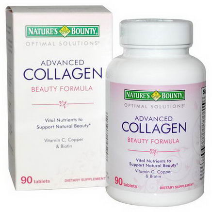 Nature's Bounty, Advanced Collagen Beauty Formula, 90 Tablets
