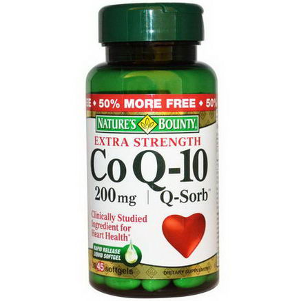 Nature's Bounty, Co Q-10, Q-Sorb, Extra Strength, 200mg, 45 Softgels