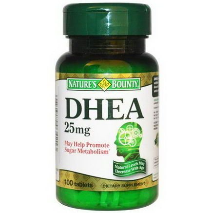 Nature's Bounty, DHEA, 25mg, 100 Tablets