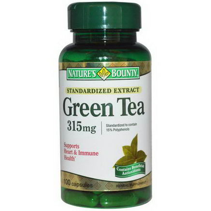 Nature's Bounty, Green Tea, 315mg, 100 Capsules