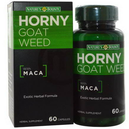 Nature's Bounty, Horny Goat Weed with Maca, 60 Capsules