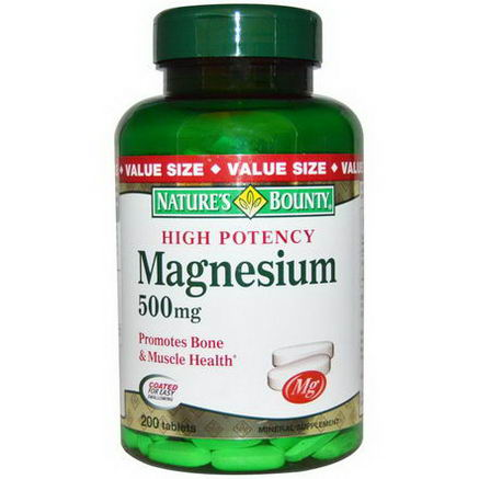 Nature's Bounty, Magnesium, 500mg, 200 Tablets