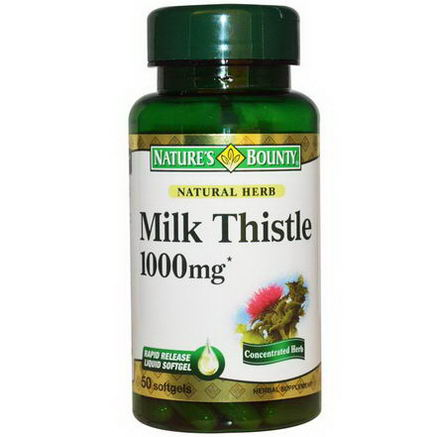 Nature's Bounty, Milk Thistle, 1000mg, 50 Softgels