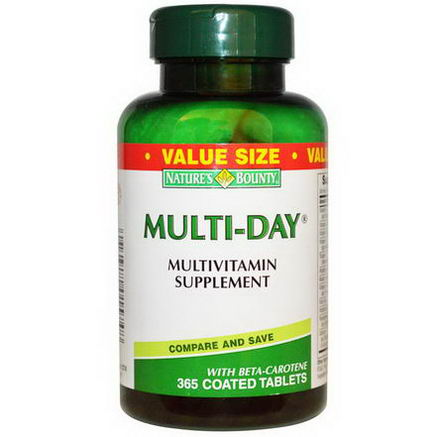 Nature's Bounty, Multi-Day, Multivitamin Supplement, 365 Coated Tablets