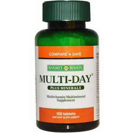 Nature's Bounty, Multi-Day Plus Minerals, 100 Tablets