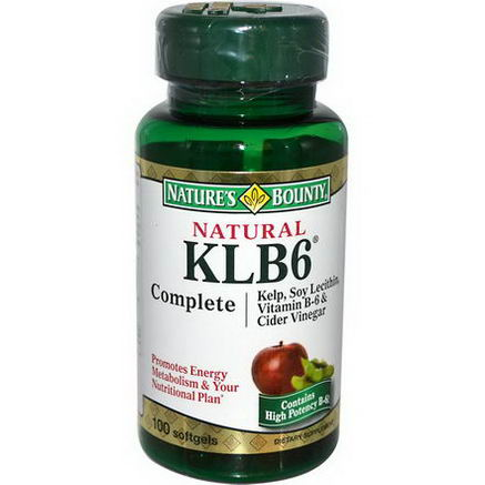 Nature's Bounty, Natural KLB6 Complete, 100 Softgels
