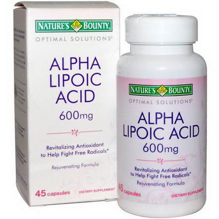 Nature's Bounty, Optimal Solutions, Alpha Lipoic Acid, 600mg, 45 Capsules