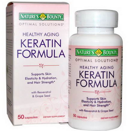 Nature's Bounty, Optimal Solutions, Healthy Aging Keratin Formula, 50 Capsules
