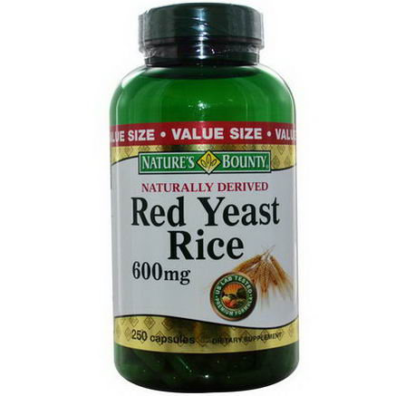 Nature's Bounty, Red Yeast Rice, 600mg, 250 Capsules