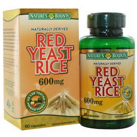 Nature's Bounty, Red Yeast Rice, 600mg, 60 Capsules