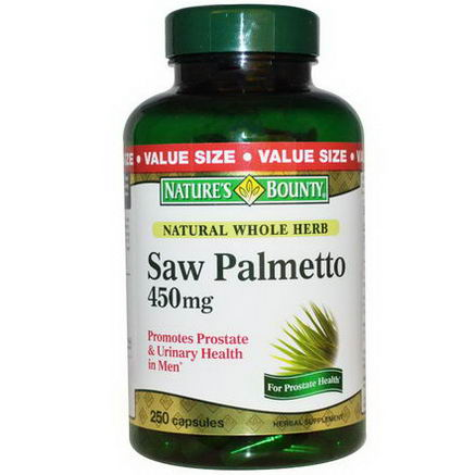 Nature's Bounty, Saw Palmetto, 450mg, 250 Capsules