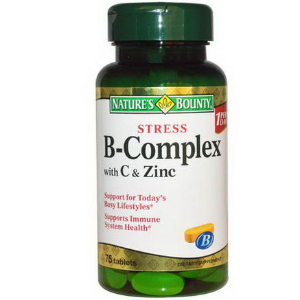 Nature's Bounty, Stress B-Complex with C & Zinc, 75 Tablets