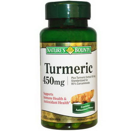 Nature's Bounty, Turmeric, 450mg, 60 Capsules