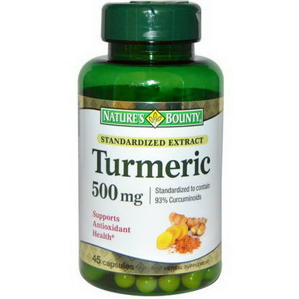 Nature's Bounty, Turmeric, Standardized Extract, 500mg, 45 Capsules