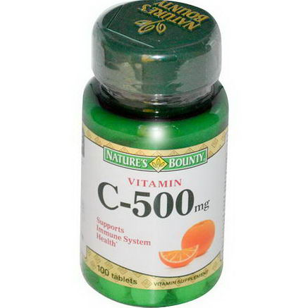 Nature's Bounty, Vitamin C-500mg, 100 Tablets