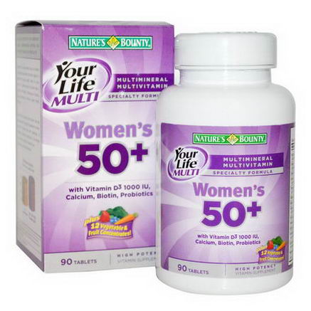 Nature's Bounty, Your Life Multi Women's 50+, 90 Tablets