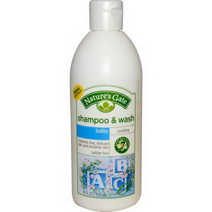 Nature's Gate, Baby Shampoo & Wash, Soothing, 18 fl oz (532 ml)