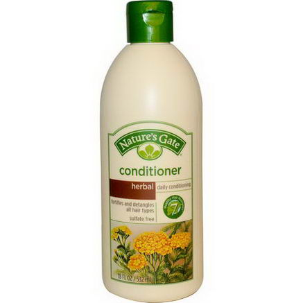 Nature's Gate, Conditioner, Daily Conditioning, Herbal, 18 fl oz (532 ml)