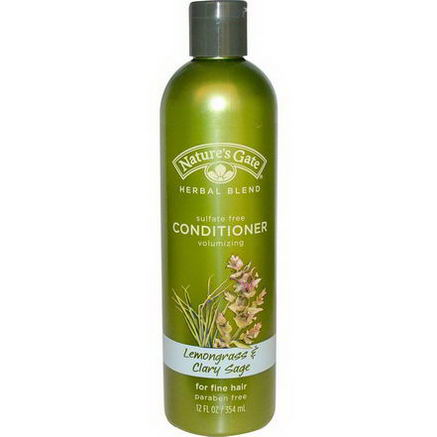 Nature's Gate, Conditioner, For Fine Hair, Lemongrass & Clary Sage, 12 fl oz (354 ml)