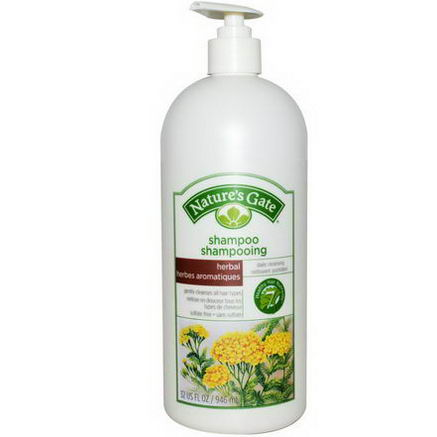 Nature's Gate, Daily Cleansing Herbal Shampoo, 32 fl oz (946 ml)