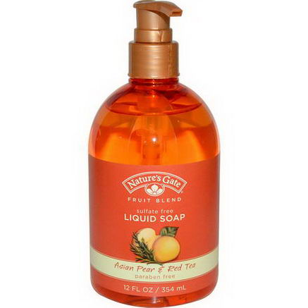 Nature's Gate, Fruit Blend, Liquid Soap, Asian Pear & Red Tea, 12 fl oz (354 ml)