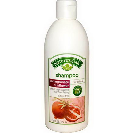 Nature's Gate, Hair Defense Shampoo, Pomegranate Sunflower, 18 fl oz (532 ml)