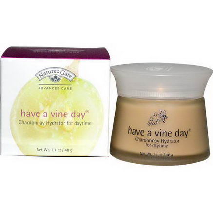 Nature's Gate, Have a Vine Day, Chardonnay Hydrator For Daytime, 1.7oz (48g)