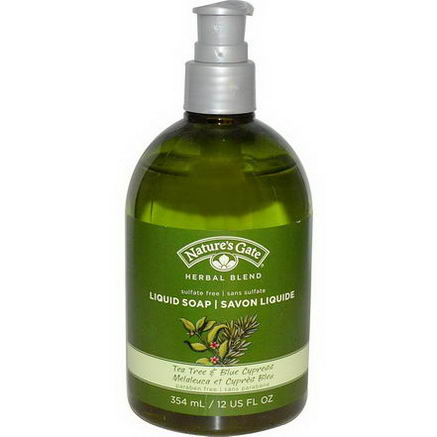Nature's Gate, Herbal Blend, Liquid Soap, Tea Tree & Blue Cypress, 12 fl oz (354 ml)