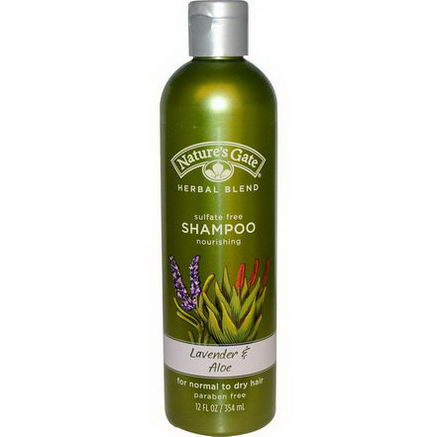 Nature's Gate, Herbal Blend, Shampoo, Lavender & Aloe, 12 fl oz (354 ml)