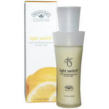 Nature's Gate, Light Switch, Lemon Skin Brightening Serum For Day & Night, 1.1 fl oz (32 ml)