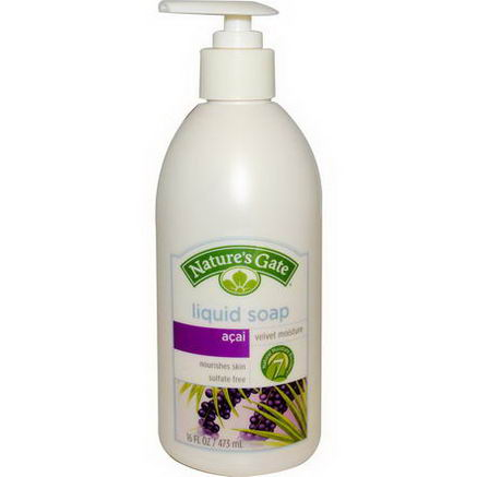 Nature's Gate, Liquid Soap, Velvet Moisture, Acai, 16 fl oz (473 ml)