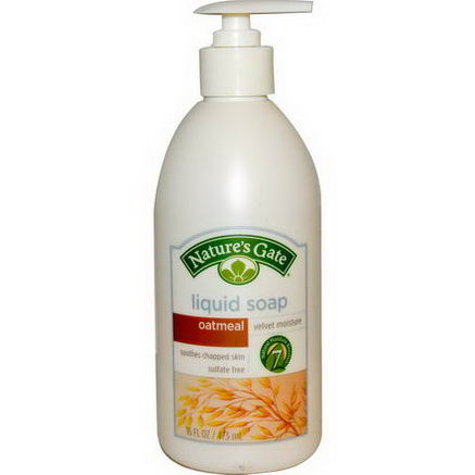 Nature's Gate, Liquid Soap, Velvet Moisture, Oatmeal, 16 fl oz (473 ml)