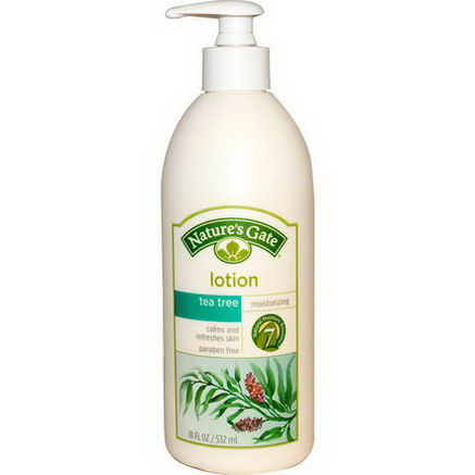 Nature's Gate, Lotion, Moisturizing, Tea Tree, 18 fl oz (532 ml)